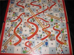 Chutes And Ladders Gameboard