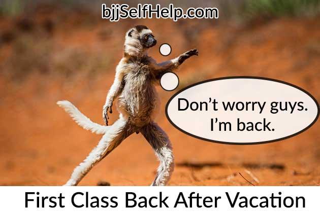First BJJ Class Back After Vacation Meme