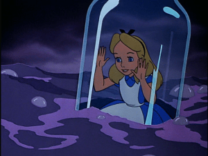 Alice In Wonderland Stuck In A Bottle