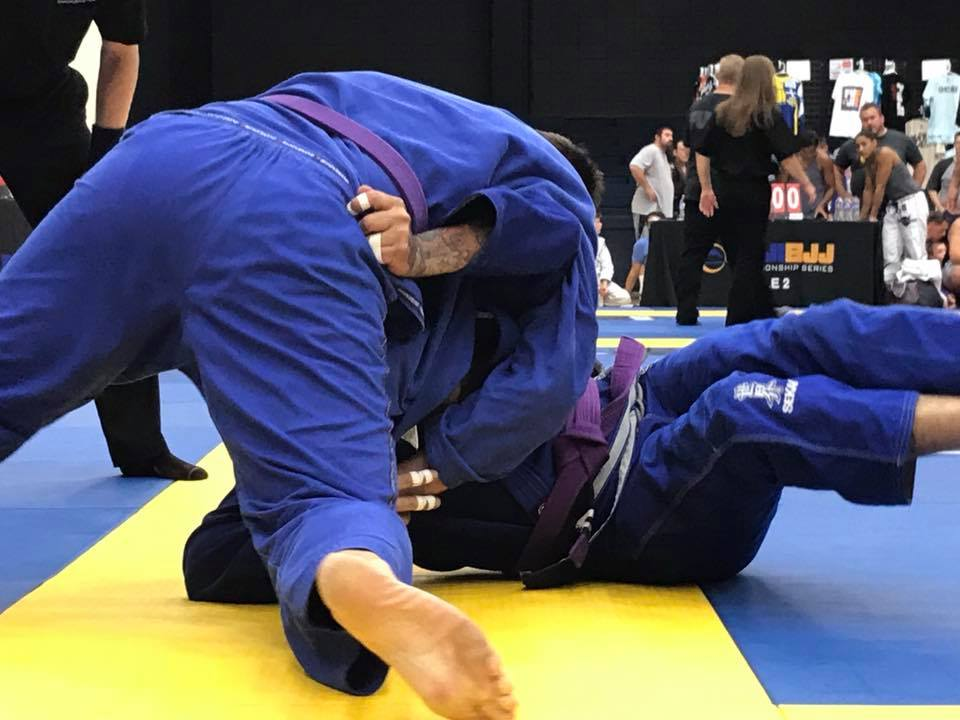 Picking A Gym Is Tough - Purple Belt Action Shot