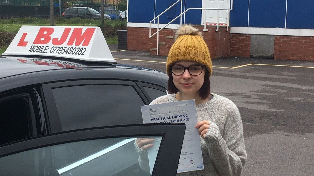 Congratulations Lauren on passing your driving test with BJM School of Motoring