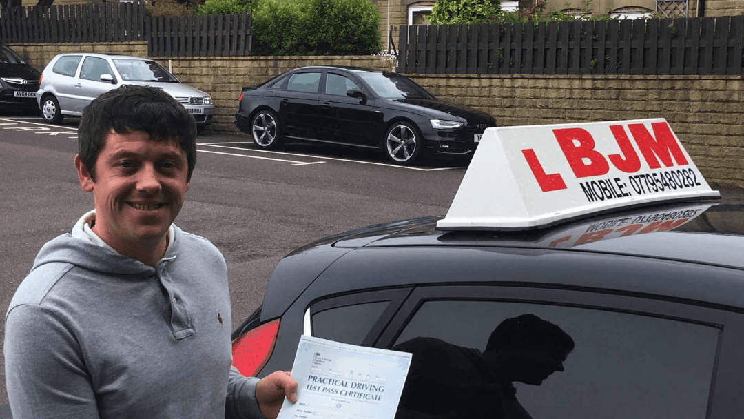 Congratulations John on passing your driving test with BJM School of Motoring