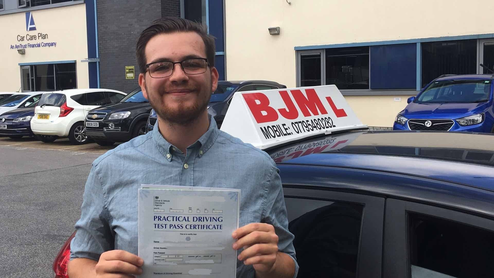 Congratulations Thomas, Congratulations Thomas, BJM School of Motoring, BJM School of Motoring