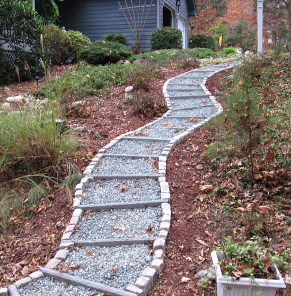 landscaping with decorative rock