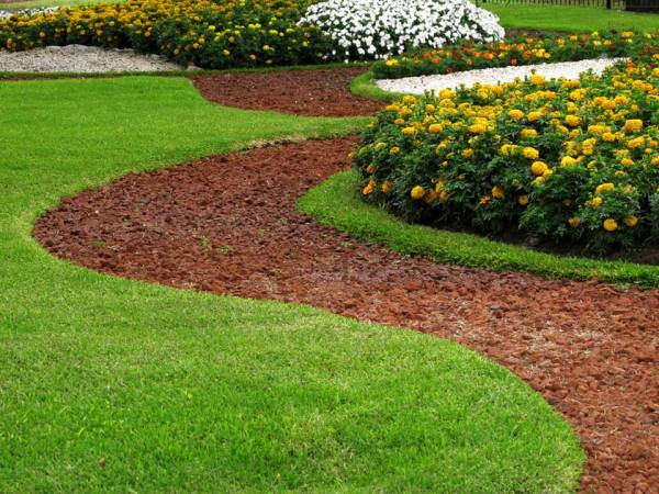 landscaping with mulch - bjorklund