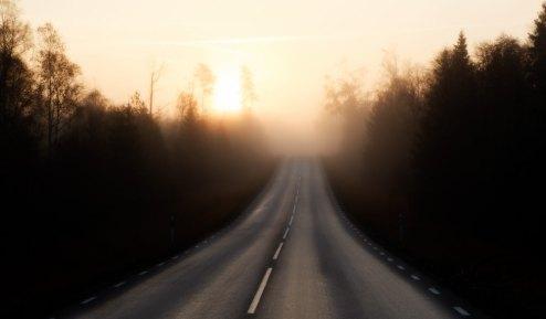 Vägen till jobbet - Tidigt en morgon