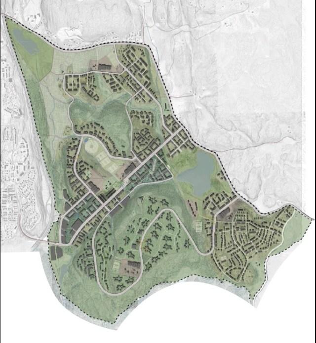 Illustrasjonsplan over området etter utbygging. (Illustrasjon: Plan- og bygningsetaten)