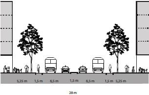 Stensrudgata med kollektivfelt (Illustrasjon: Plan- og bygningsetaten)