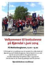 Kretsstevne 2014 - Bjørndalskolenes musikkorps 25 år (illustrasjon: Bjørndalskolenes musikkorps)
