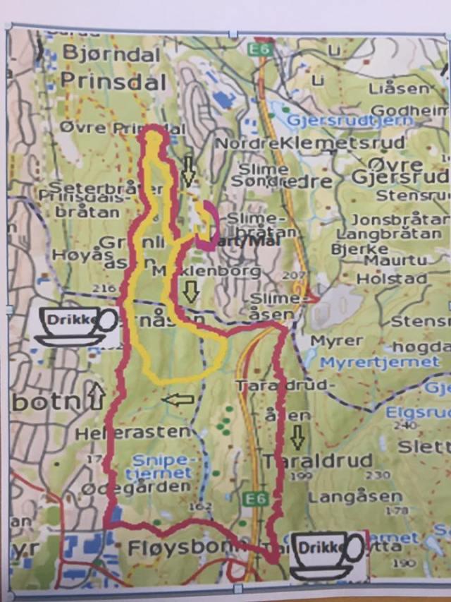 Bjorndalspretten2016-rute