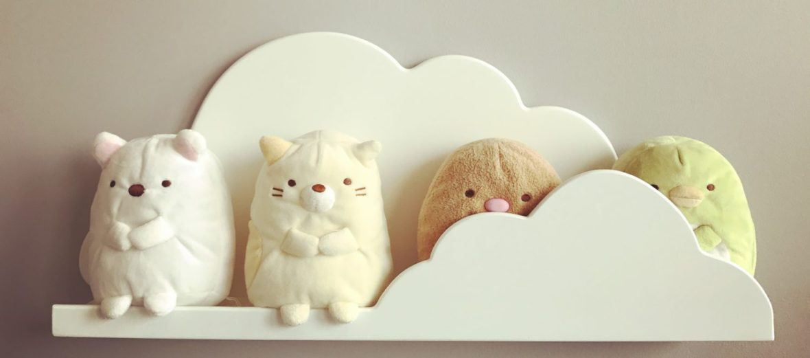 Sumikko Gurashi, on a ledge (as opposed to a corner, like they prefer)