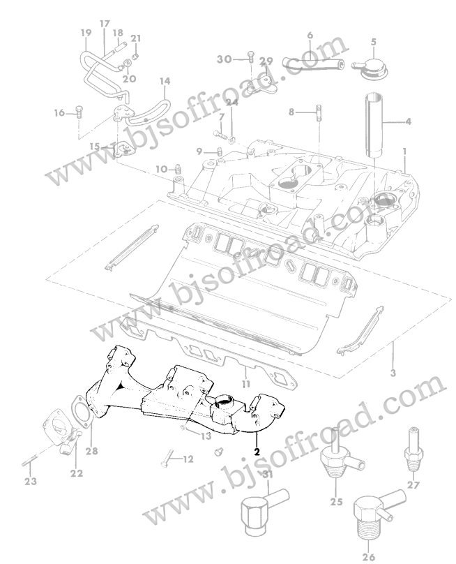 Exhaust Manifold Driver Side 1971-1979