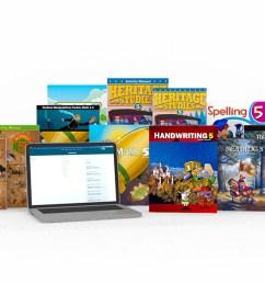 Grade 5 Online with Books   Homeschool [ 960 x 960 Pixel ]