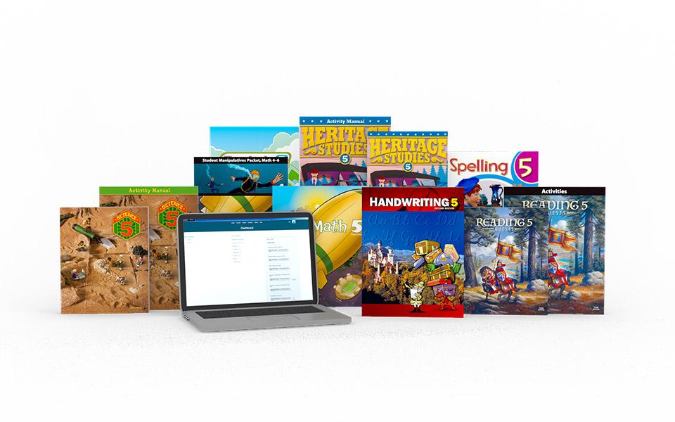 medium resolution of Grade 5 Online with Books   Homeschool