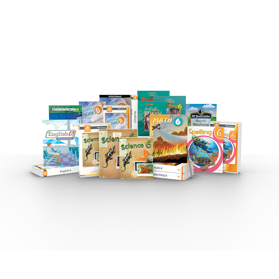 medium resolution of Grade 6 DVD with Books   Homeschool