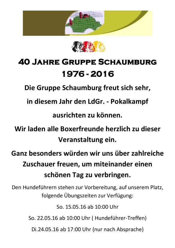 40 Jahre Gruppe Schaumburg