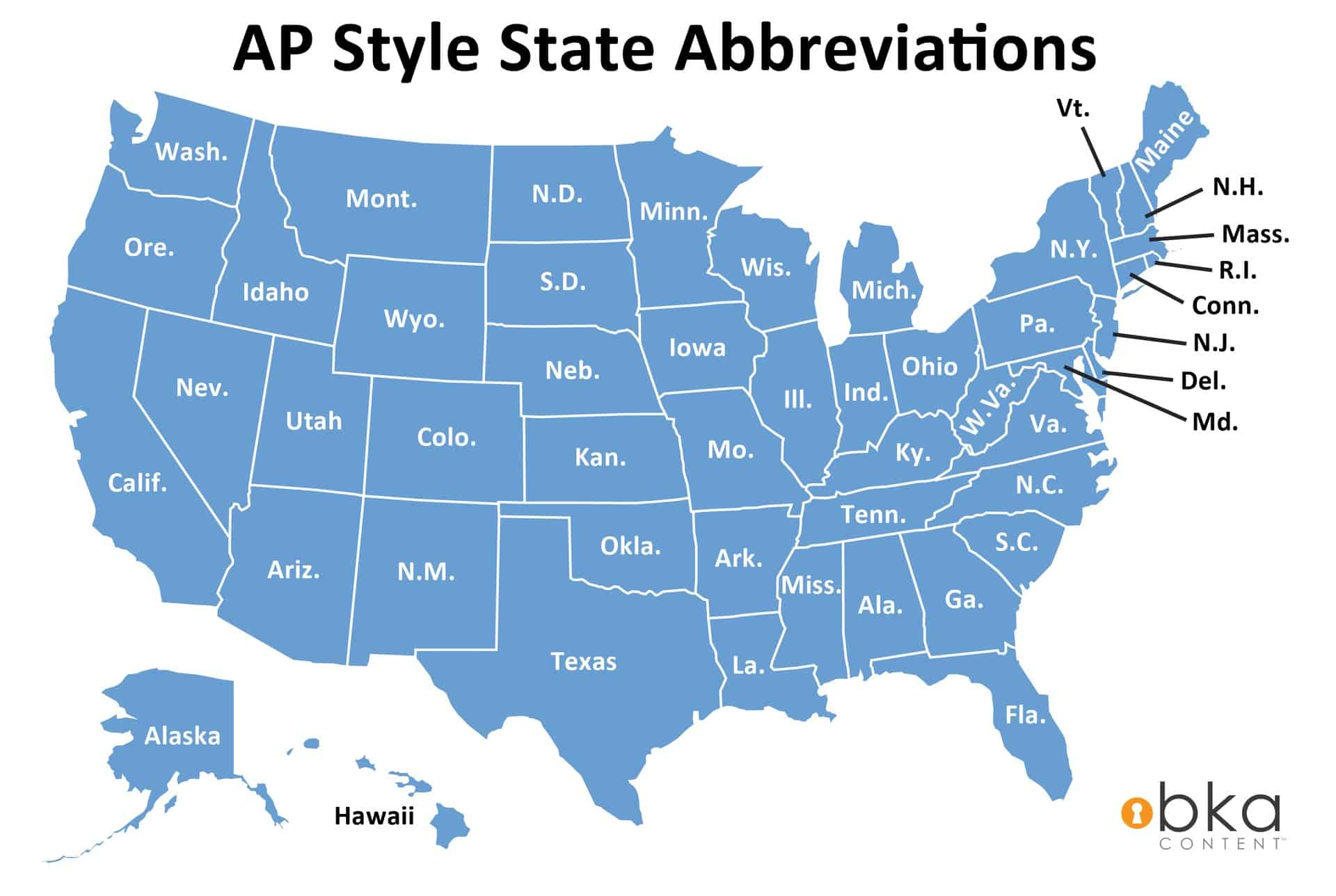 Ap Style State Name Abbreviations Bka Content