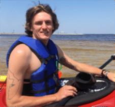 Wyatt Blum bioluminescence manatee tour kayaking guide