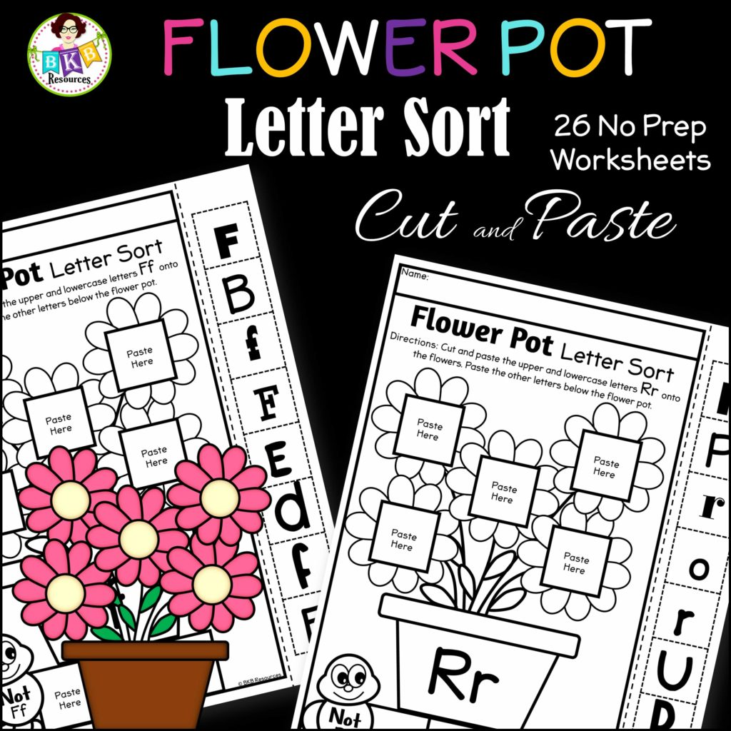 Free Letter Cut And Paste Worksheet