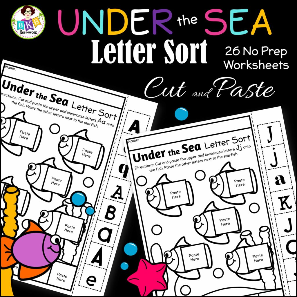 Cut And Paste Letter Sorting Worksheets