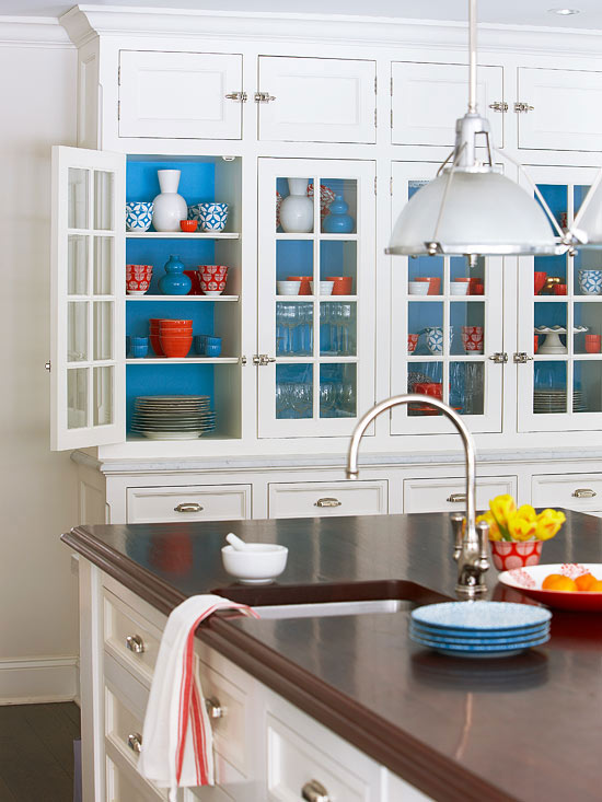 Add A Pop Of Color Inside Your Kitchen Cabinets BKC Kitchen And Bath