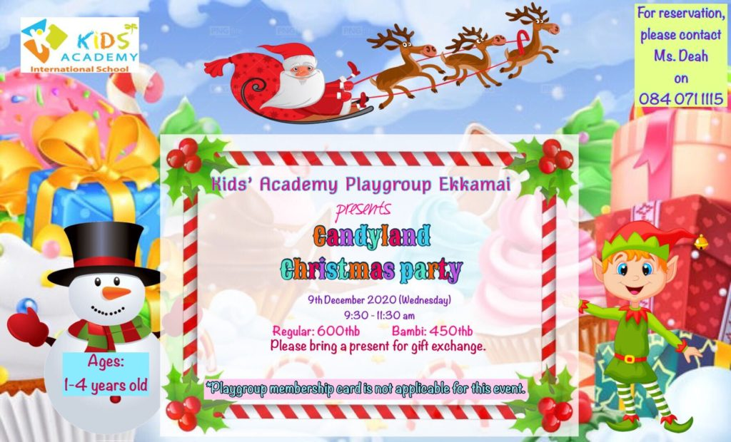 Kid's Academy Candyland Christmas Party
