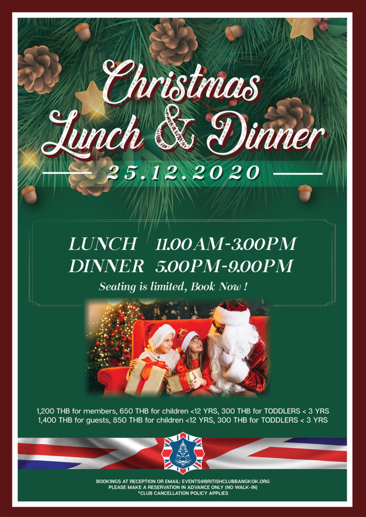 Christmas Lunch and Dinner