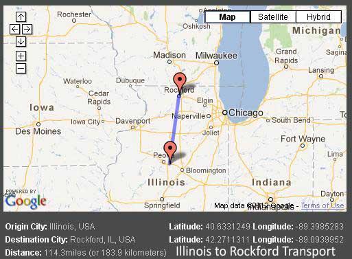 Map Rockford Illinois Cities