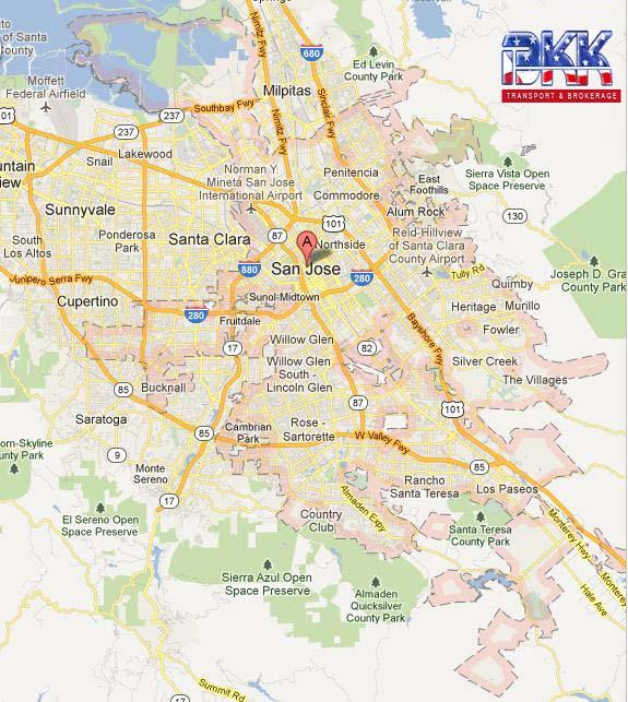 Daly San City Francisco Map