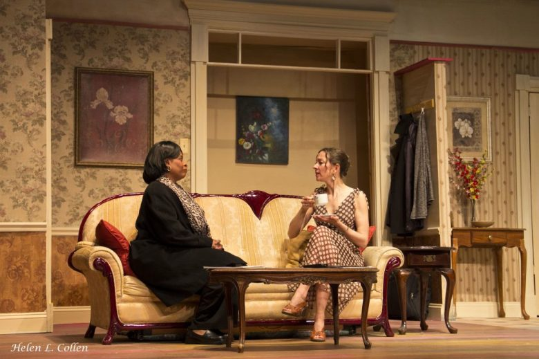 """Scottie Mills and Nicola d'Alessandro in """"Maid's Door"""" by Cheryl Davis, playing now at The Billie Holiday Theatre"""