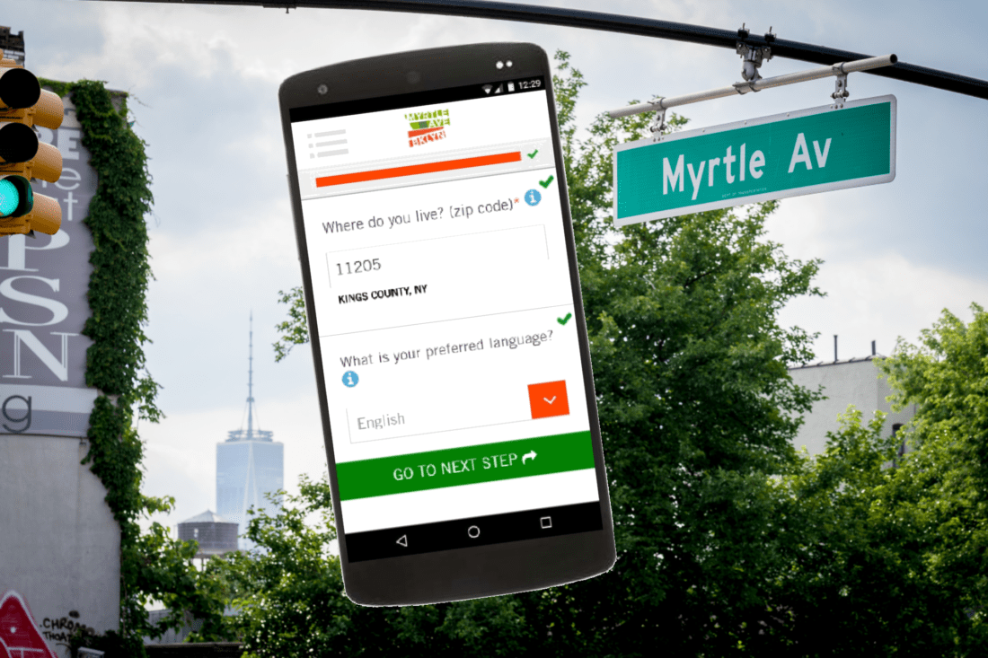 Myrtle Avenue Partnership and tech company Benefit Kitchen help low-income residents find benefits and deals in their neighborhood.