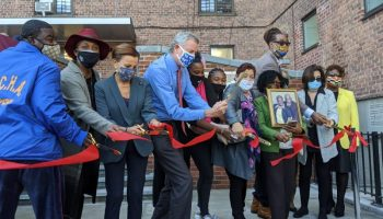 Electeds, Tracy Morgan Cuts Ribbon on Marcy Houses Community Center