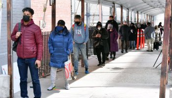 """It's For My Health"": Brooklynites Line Up To Get Vaccinated At Medgar Evers College"