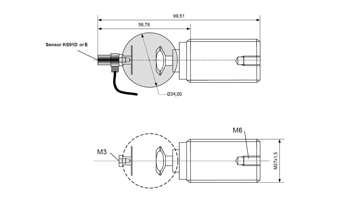 Structure-born noise sensor BKS03