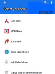 Google pay Find bank account