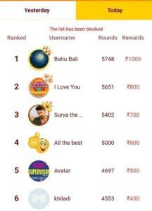 Minijoy game ranking