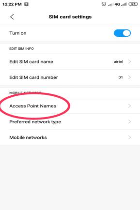 airtel Sim Apn Setting