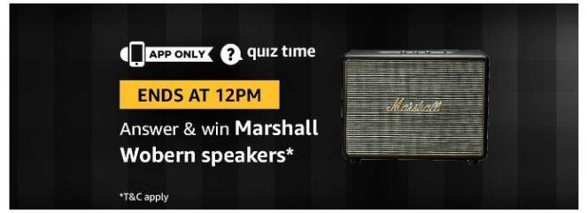 amazon quiz 17 august Marshall Speakers