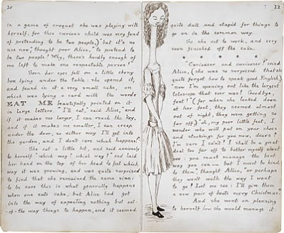 Image of Lewis Carroll's Alice's Adventures Under Ground - Pages 10 and 11