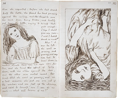 Image of Lewis Carroll's Alice's Adventures Under Ground - Pages 36 and 37