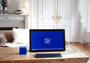 Kubb - écran ordinateur avec modèle Bleu 12