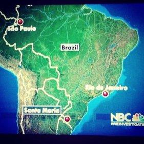 mapa NBC
