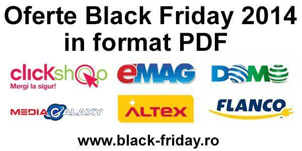 Black Friday 2014 – oferta completa Emag, Altex, Mediagalaxy, Flanco, Domo, Clickshop