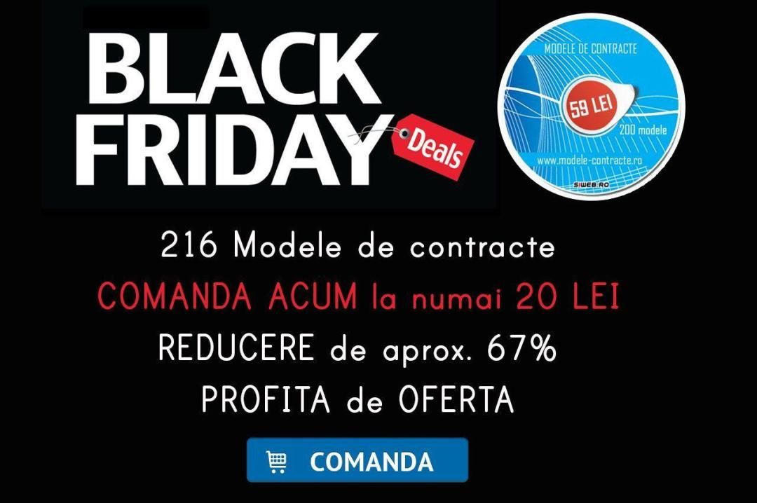 Catalog Black Fiday 2016 - Modele contracte