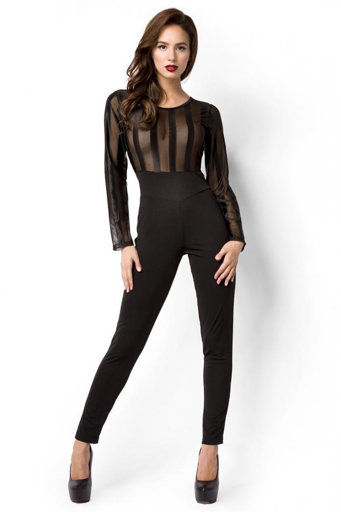 Jumpsuit with transparent Top 3990