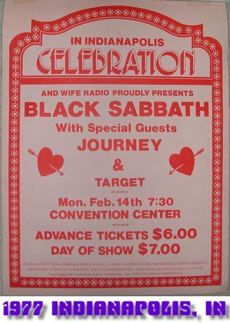 Technical Ecstasy Tour  Black Sabbath Online