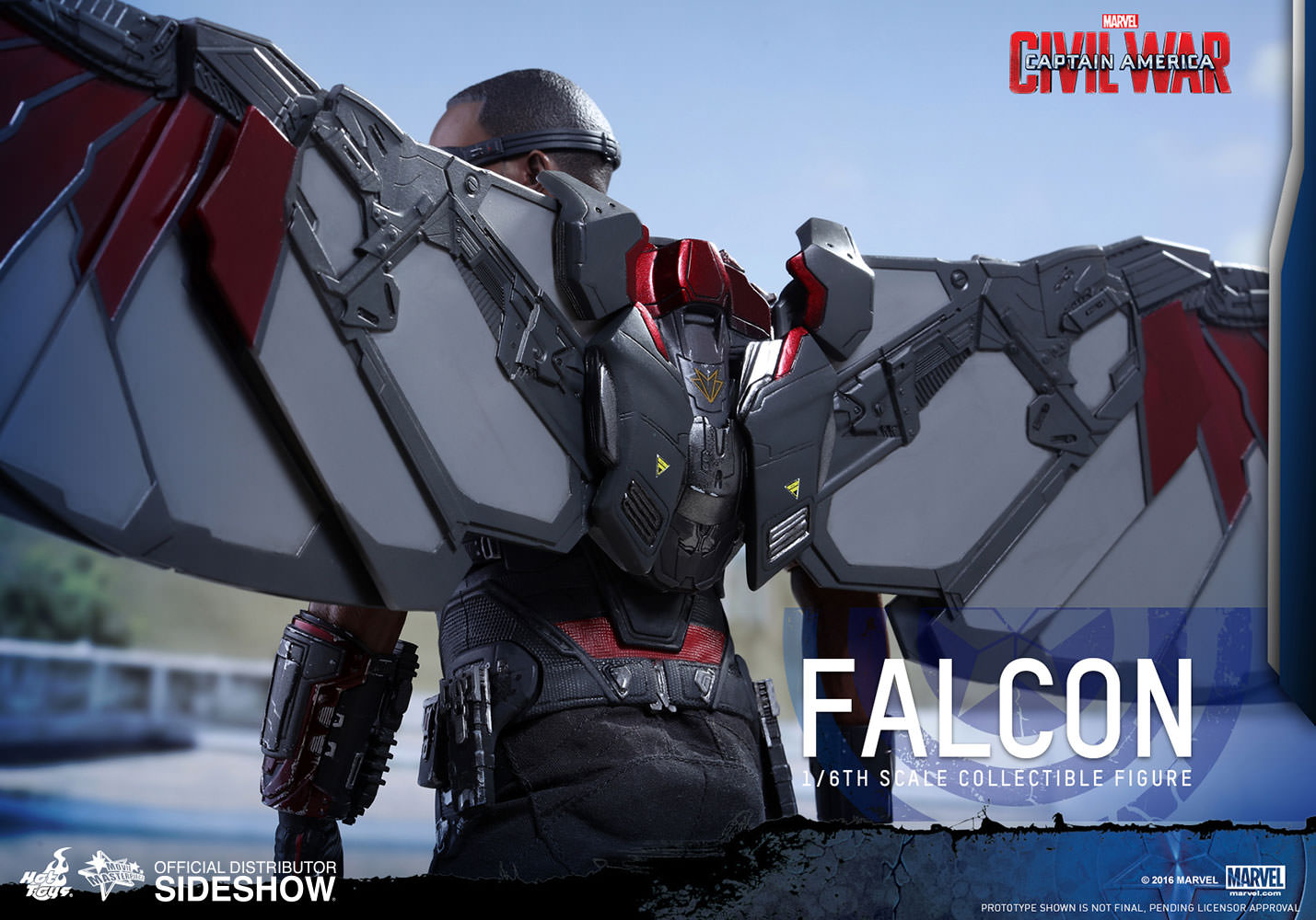 Preview: Hot Toys 1/6th Scale Falcon (from Captain America: Civil War)