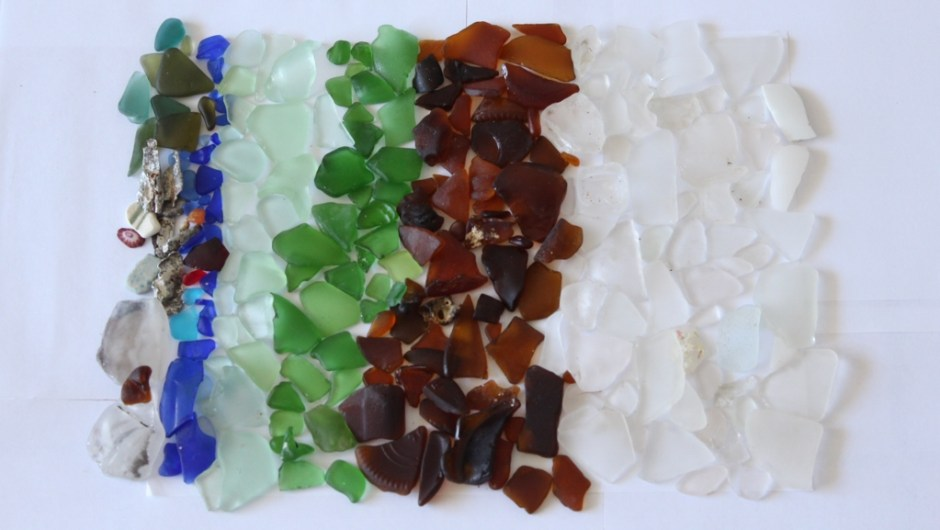 trash and sea glass in puerto rico