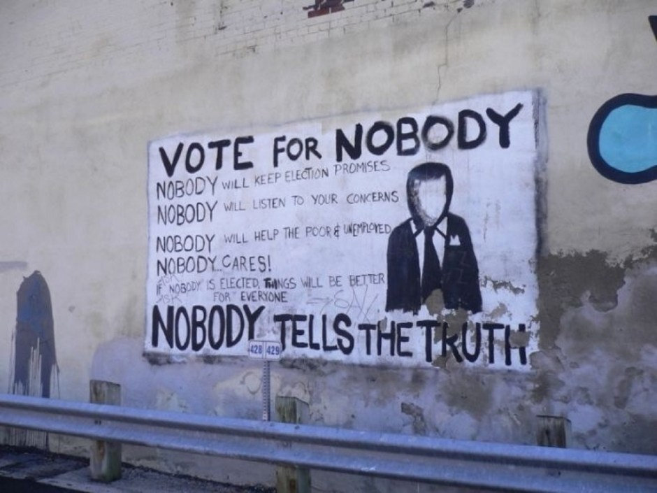 vote for nobody sign - can't vote for president puerto rico