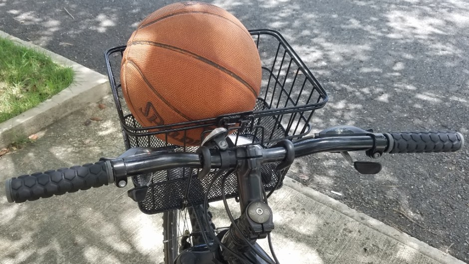 basketball in puerto rico - bike basket